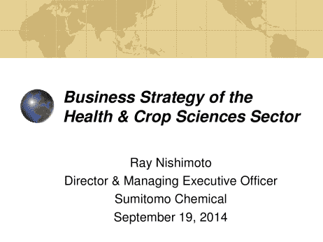 Sumitomo Chemical Co , Ltd  Business Strategy of the Health