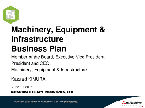 Heavy equipment business plan