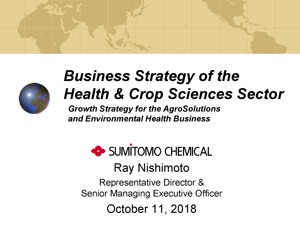 Sumitomo Chemical Co , Ltd  Business Strategy of the Health & Crop